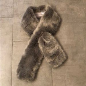 Restoration Hardware faux fur scarf